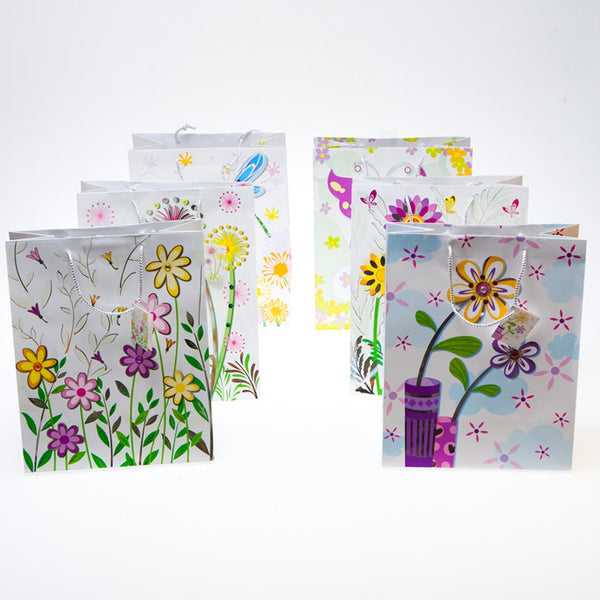 Large Flowers and Jewels Gift Bags - pkg12