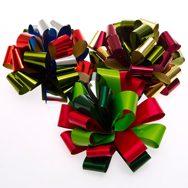 "6"" Holiday Classic Bows - pkg12"