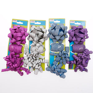 Laser Glitter Assorted Bow Sets - pkg12