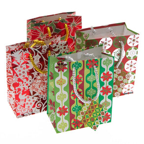Small Holiday Patterns Gift Bags