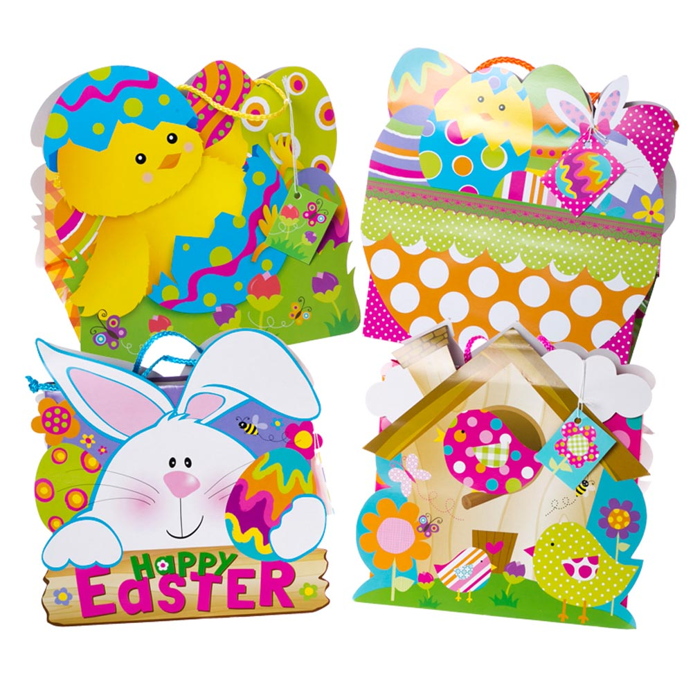 Large Easter Animals Basket Gift Bags