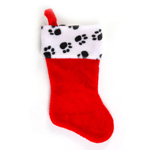 Plush Paw Print Stocking