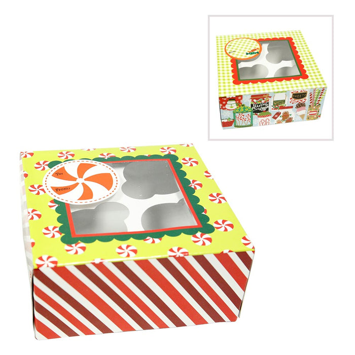 Christmas Delight Cookie / Cupcake Box