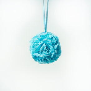 "7"" Light Blue Flower Pomander Kissing Ball"