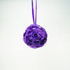 "7"" Dark Purple Flower Pomander Kissing Ball"
