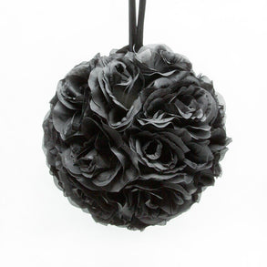 "10"" Black Flower Pomander Kissing Ball"