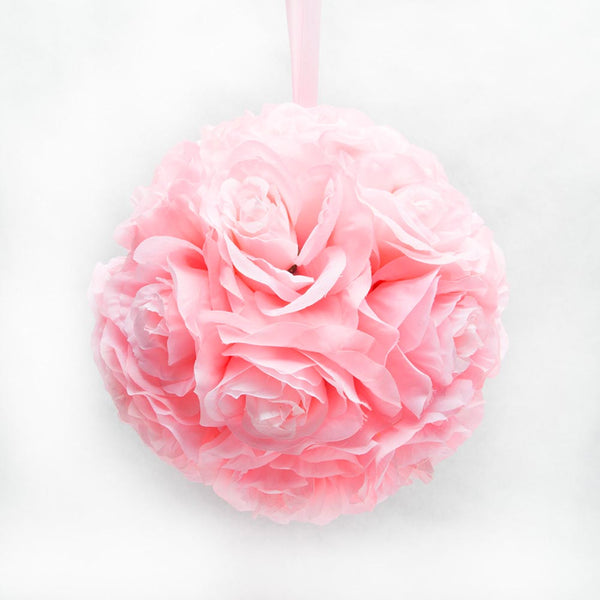 "10"" Pink Flower Pomander Kissing Ball"