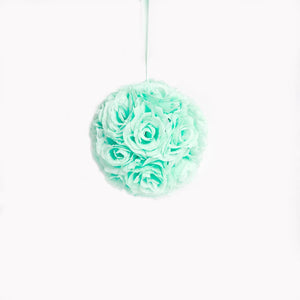 "10"" Mint Flower Pomander Kissing Ball"
