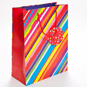 Large Diagonal Striped Gift Bag