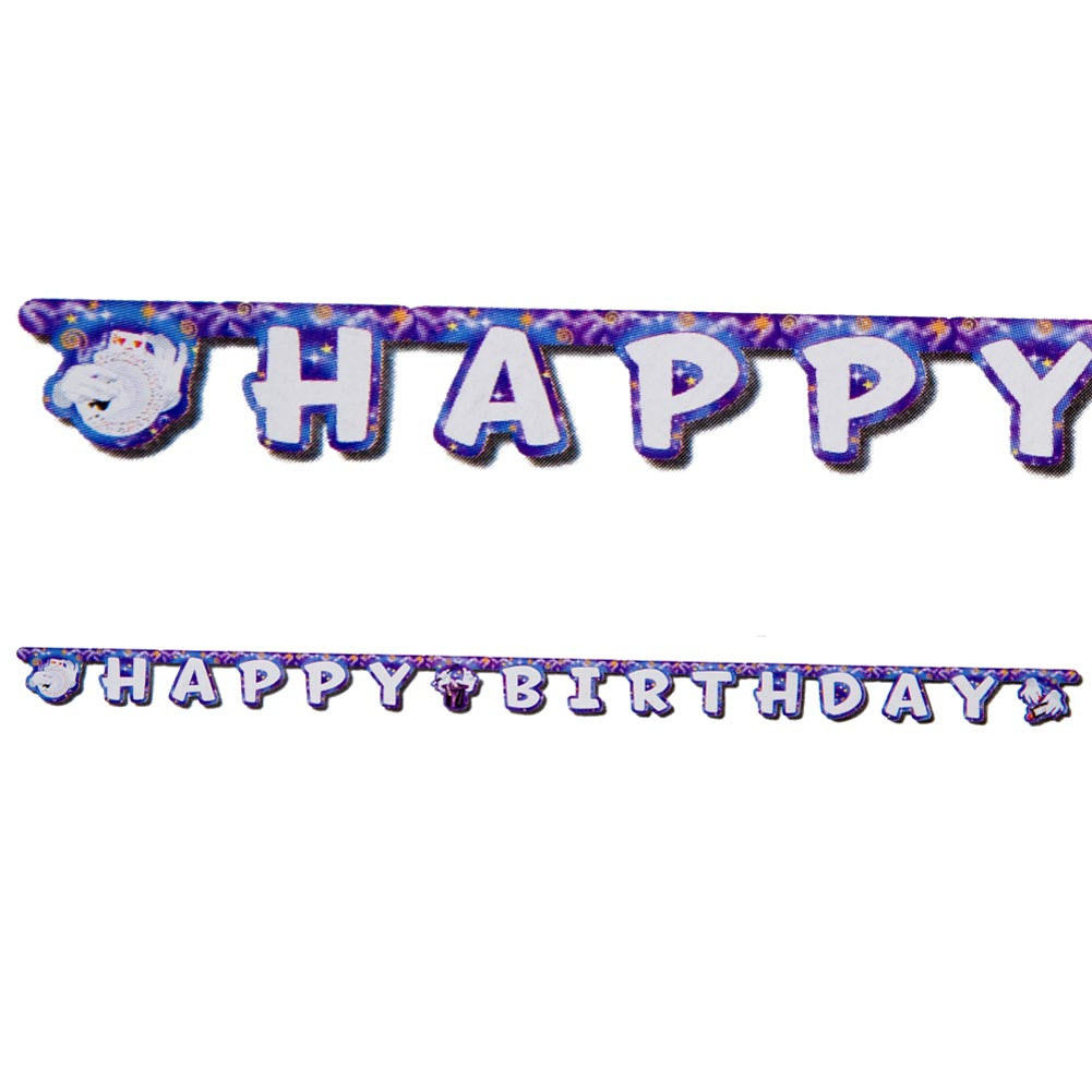 Magic Party Happy Birthday Banner