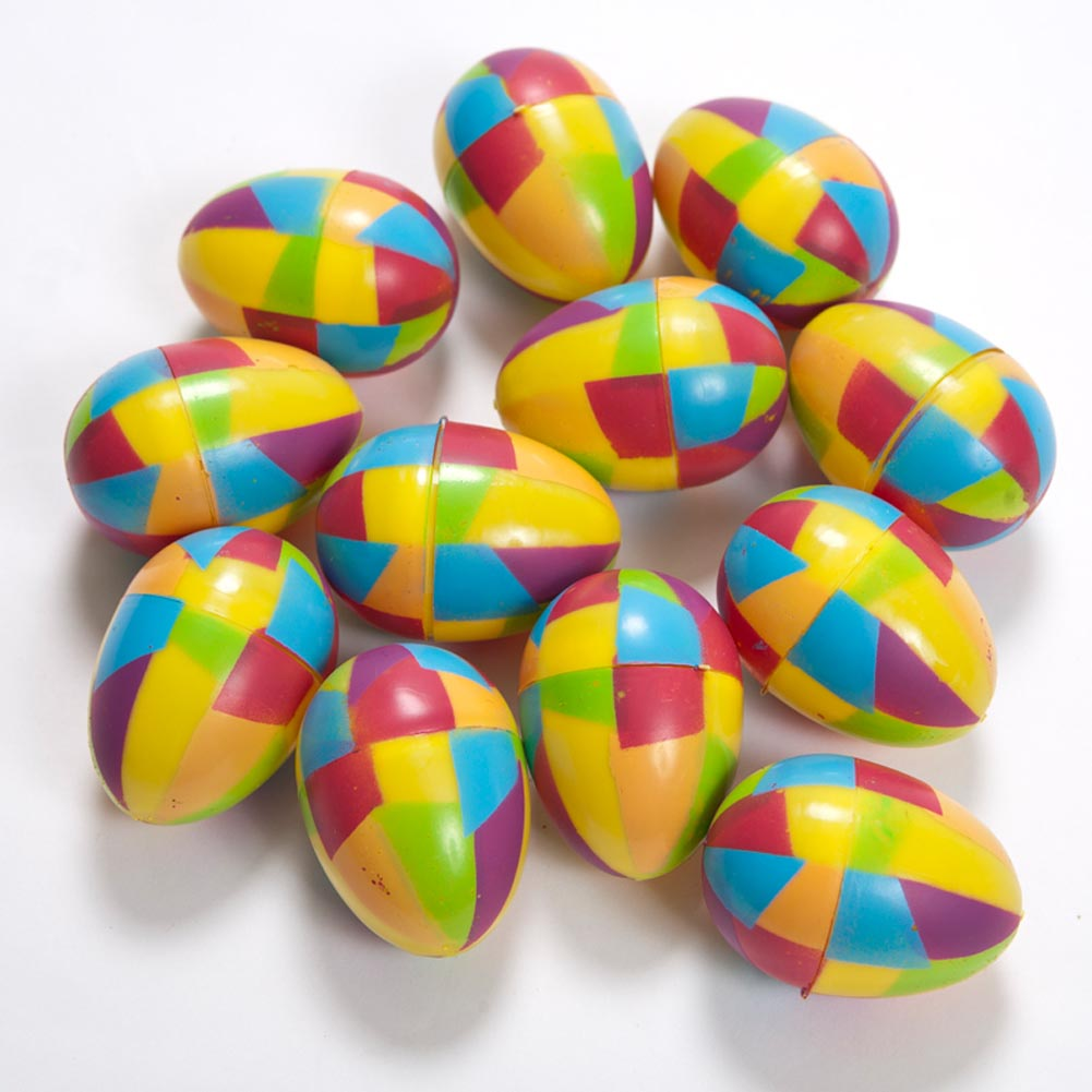 Stained Glass Plastic Easter Eggs