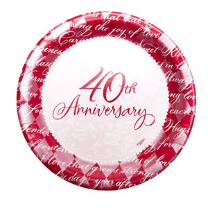 "Inspirational 40th Anniversary 7"" Plates"