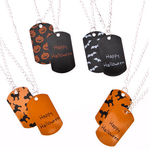 Halloween Dog Tag Necklaces