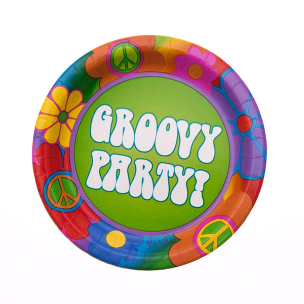 "60's Party 7"" Plates"