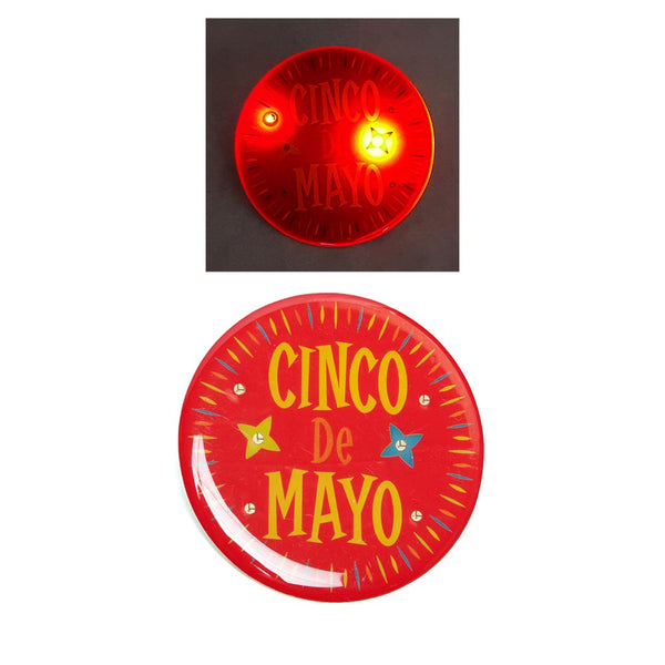 Flashing Cinco De Mayo Button