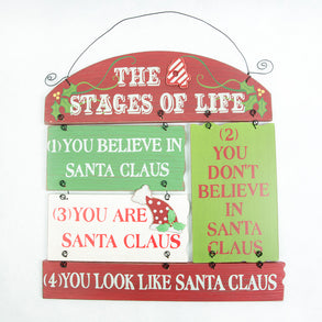 Wooden 4 Stages Santa Claus Sign