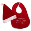 Infant Santa Hat and Bib Set
