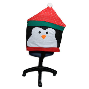 Holiday Penguin Chair Cover