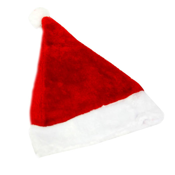 Children's Red Plush Santa Hat