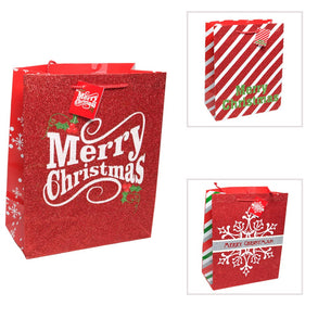 large glitter merry christmas gift bag - Large Christmas Gift Bags
