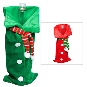 Velour Holiday Shirt Bottle Gift Bags