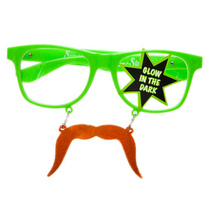 Glow In The Dark Green Fu Manchu Sun-Stache