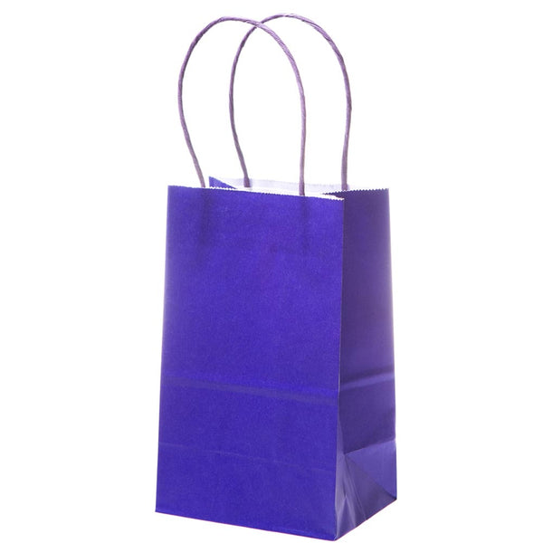 Small Purple Kraft Gift Bags