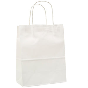 Medium White Kraft Gift Bags