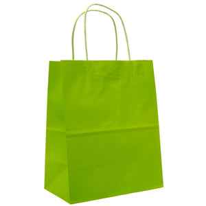 Medium Lime Green Kraft Gift Bags