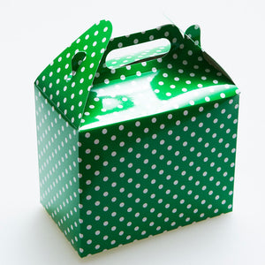 Green Polka Dot Favor Boxes