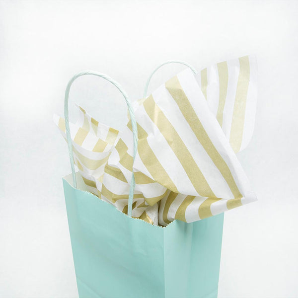 Golden Stripes Tissue Sheets