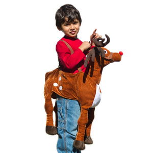 Plush Ride-On Rudolph Costume