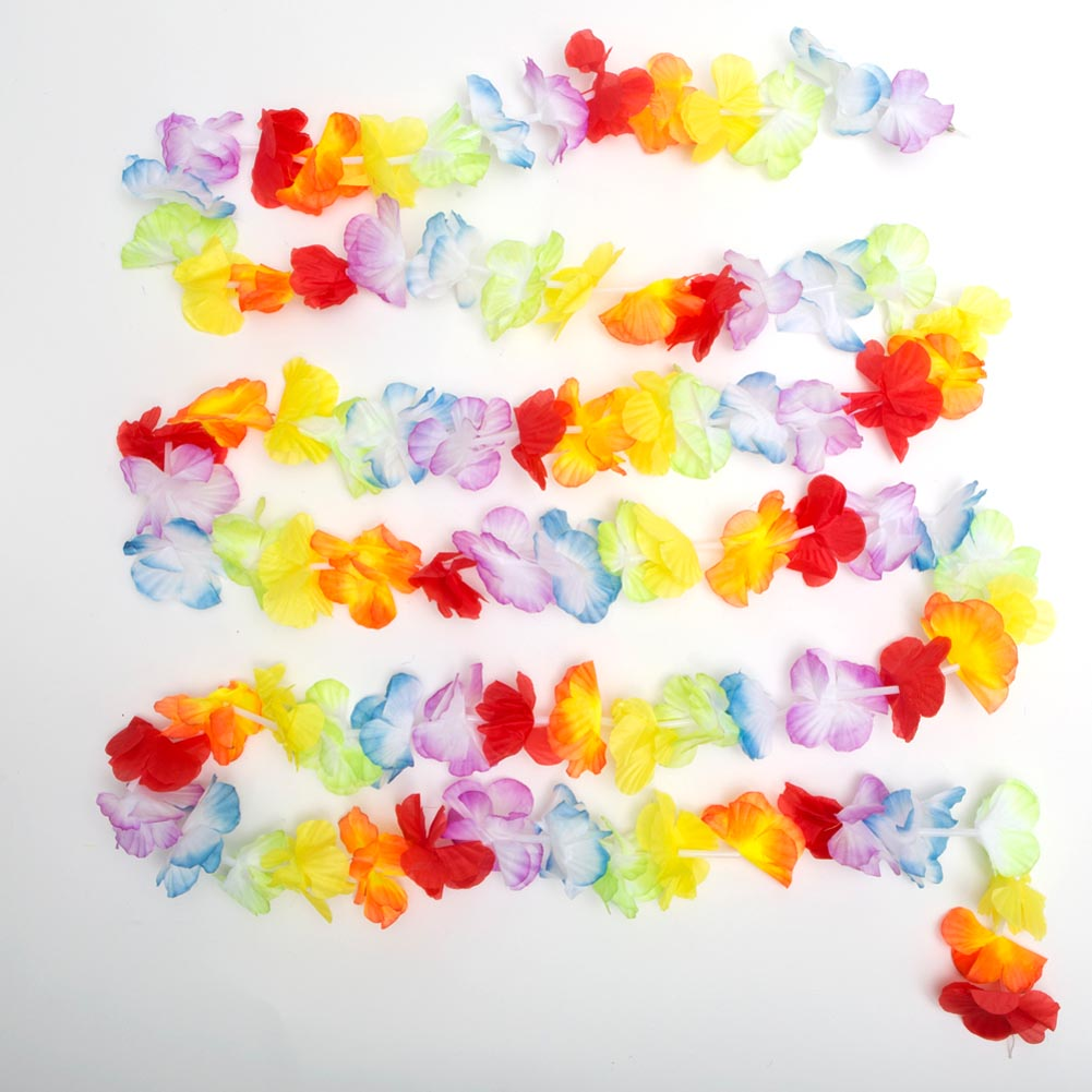 Bright Jumbo Flower Lei Garland