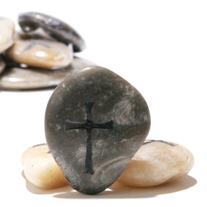 Cross Engraved Worry Stones