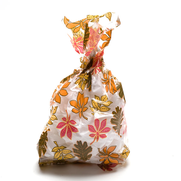 Fall Leaves Cellophane Bags