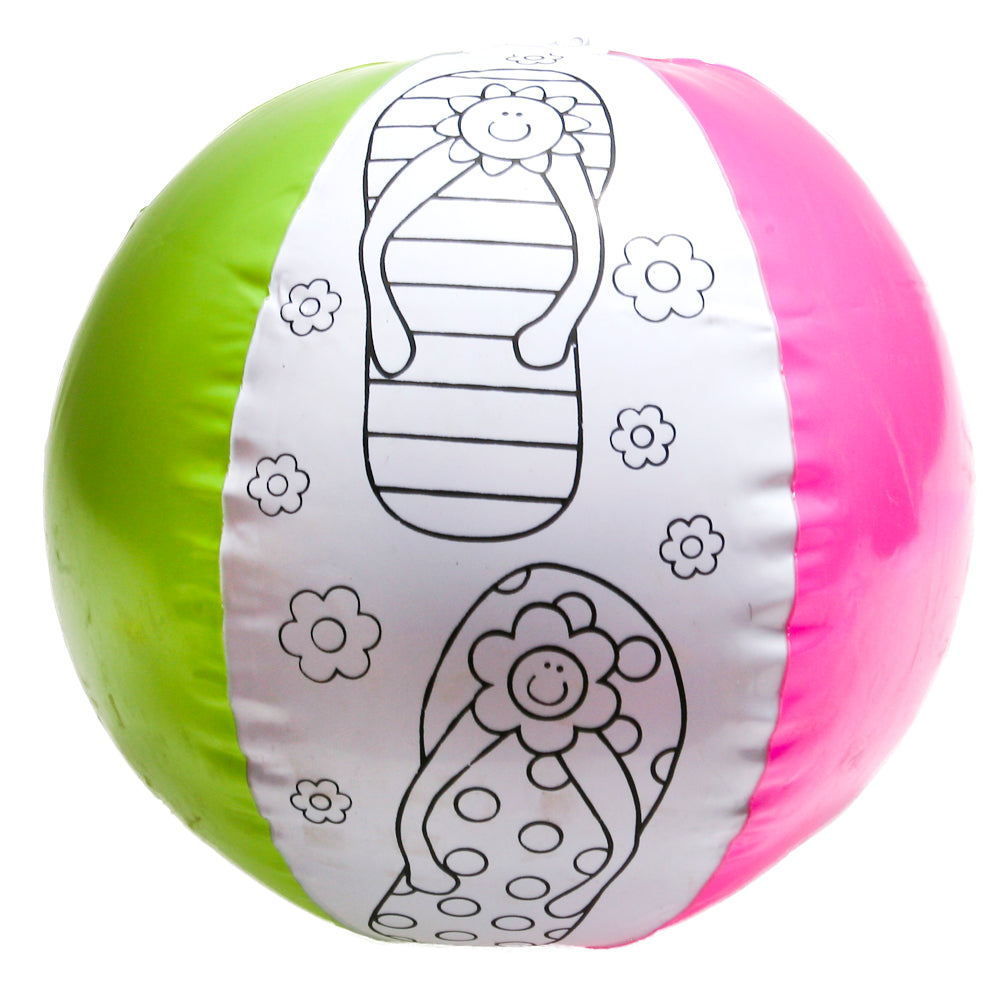 Color Your Own Flip Flop Beach Balls