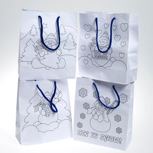 Medium Color Your Own Snowman Gift Bags