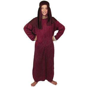 Childs Small Maroon Nativity Gown