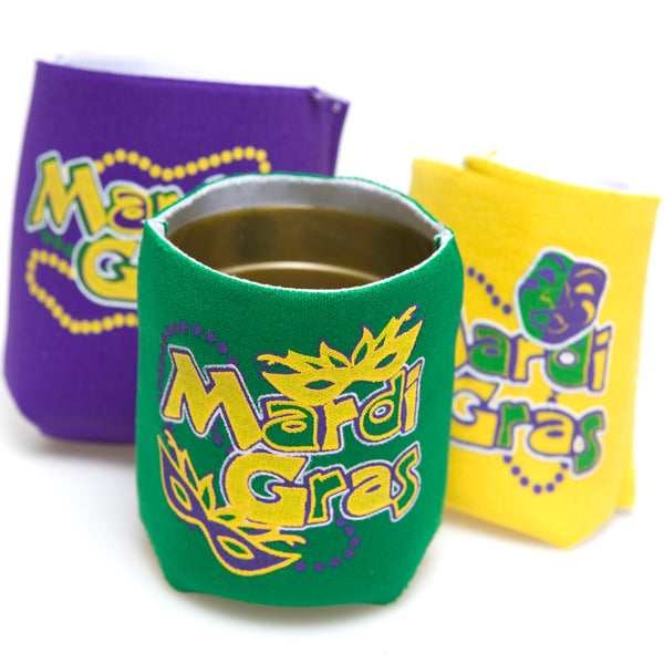 Mardi Gras Bottle/Can Cover