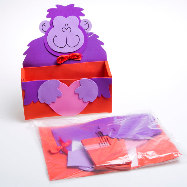 Valentine Gorilla Craft Card Boxes