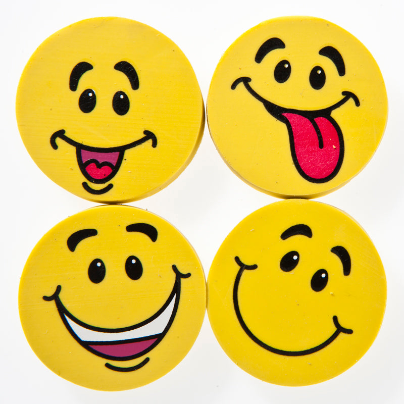 Yellow Smiley Face Erasers