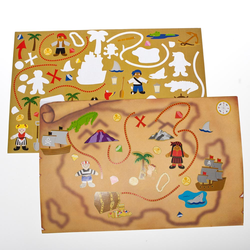 Jumbo Treasure Map Sticker Sets