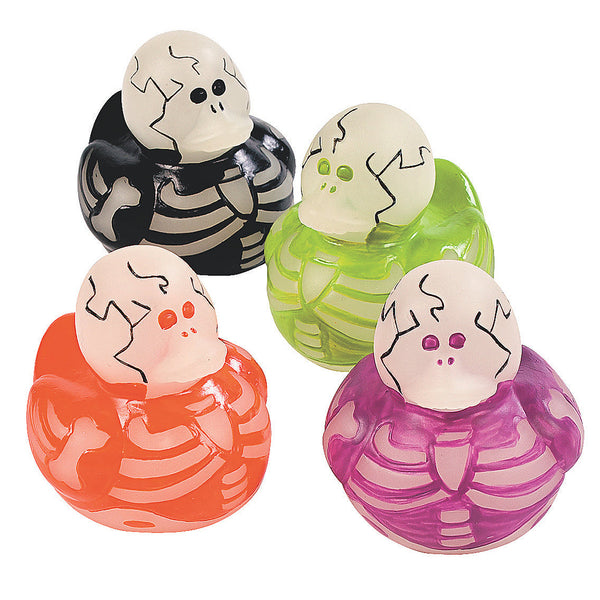 Glow In The Dark Skeleton Rubber Ducks
