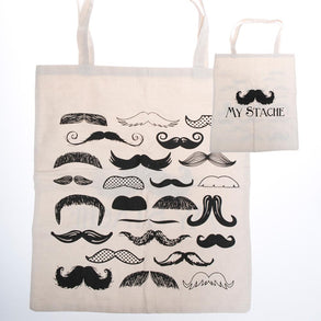 "Large ""My Stache"" Tote Bag"