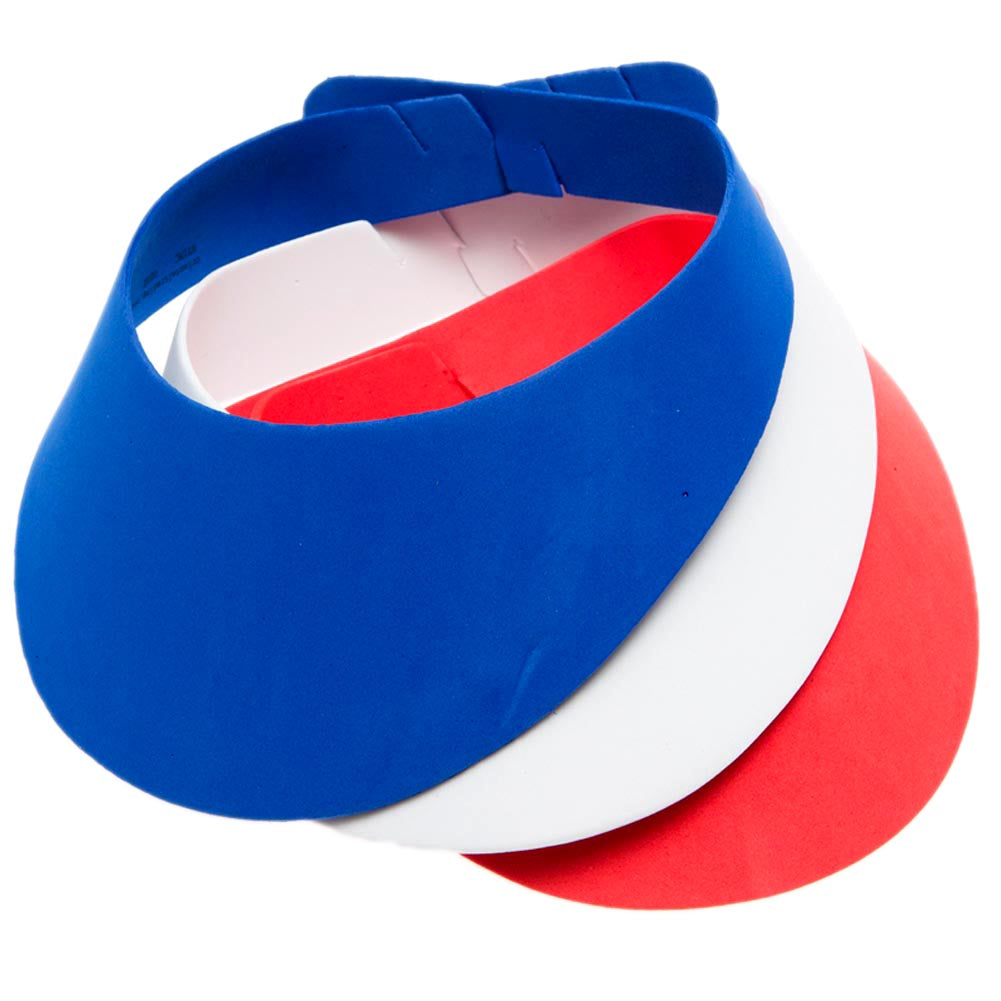 Red, White, and Blue Foam Visors