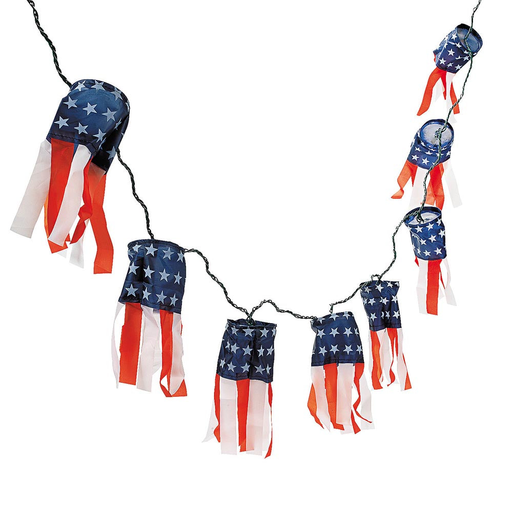 Patriotic Windsock Light Set
