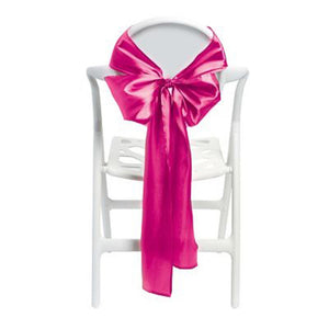 Hot Pink Satin Chair Bows