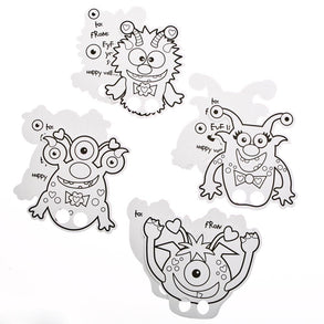 Color Your Own Valentine Monster Finger Puppets