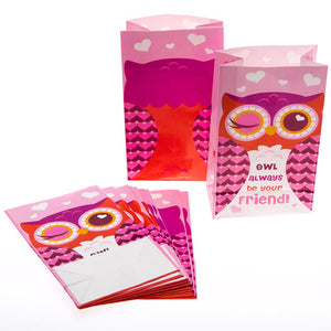 Owl Valentine's Day Treat Bags
