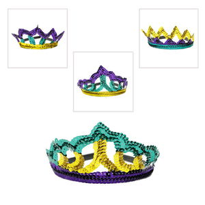 Sequin Mardi Gras Headband